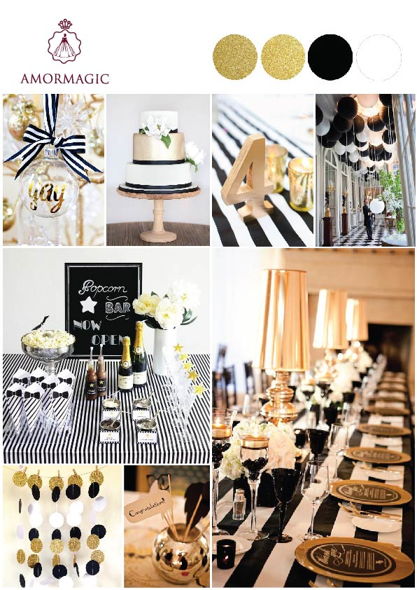 Black White Wedding Theme Amormagic